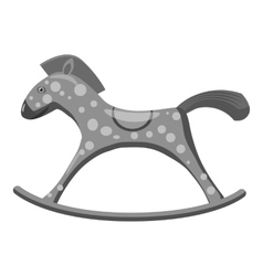 Horse rocking icon gray monochrome style vector