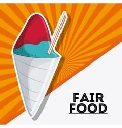 Ice cream fair food snack carnival icon vector