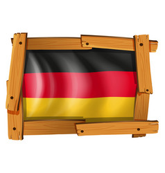 icon design for germany flag vector image