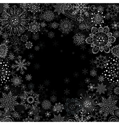 Invitation card with snowflake vector