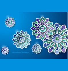 Islamic art design greeting card vector