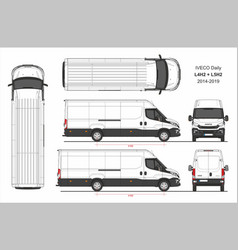 Iveco daily van l4h2 and l5h2 2014-2019 vector