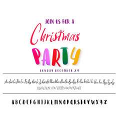 join us for a christmas party horizontal flyer vector image