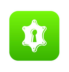 keyhole icon green vector image
