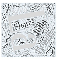 La Jolla Shores Word Cloud Concept vector