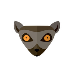Lemur head icon in flat design vector