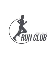 Man running jogging club icon isolated vector