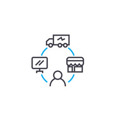 management of logistics linear icon concept vector image