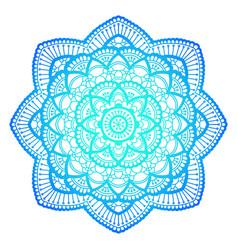 mandala ethnic round ornament hand drawn indian vector image