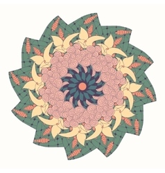 Mandala with floral abstract pattern vector image
