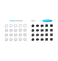 Messages ui pixel perfect well-crafted thin vector