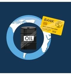 Oil and petroleum industry economic world money vector