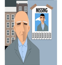 Old man missing his youth vector image