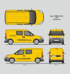 Opel combo 2016 l2h1 combi delivery van vector
