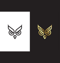 owl eyes symbol template vector image