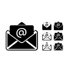 Phone email fax icon on a white background vector