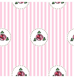 Pink seamless pattern with roses vector image