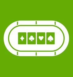 poker table icon green vector image