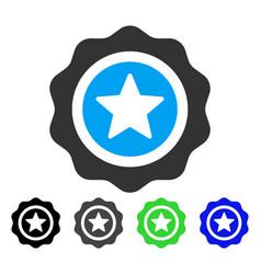 Reward seal flat icon vector