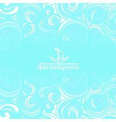 Sea background with blue waves vector image