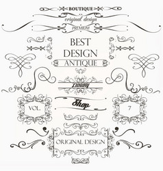 Set calligraphic elements and page decorations vector