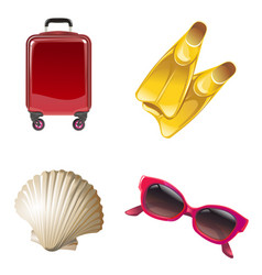 Set icons on theme travel vector