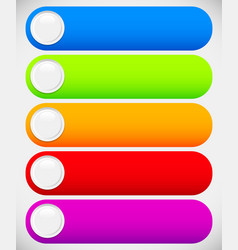 set of colorful button banner backgrounds bars vector image