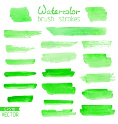 Set of hand-painted brush strokes vector image