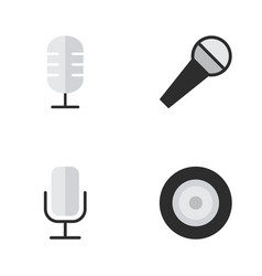 set of simple melody icons vector image