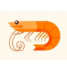 Shrimp - seafood icon vector image