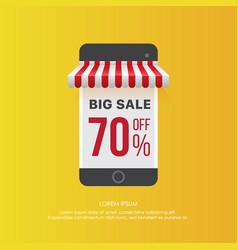smartphone advertising sales vector image