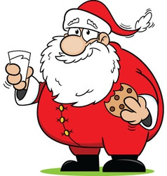 Snacking Santa Claus vector image
