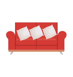 Sofa livingroom with pillows vector