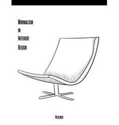 Soft chair with backrest in a contour on a white vector