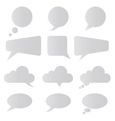 Speech bubbles isolated vector