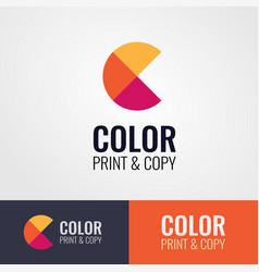 style design of logo for print and copy vector image