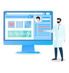 telemedicine medical services online via internet vector image