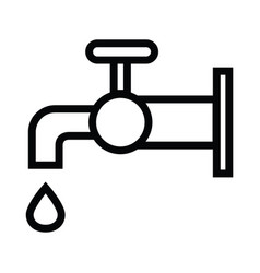The tap water icon water symbol with outline style vector