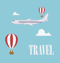 travel concept flat design plane vector image