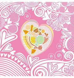 Valentines day card heart sweet vector