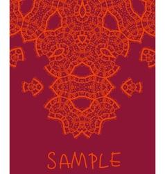 Wedding invitation stylized indian mehndi vector