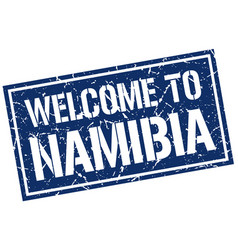 welcome to namibia stamp vector image