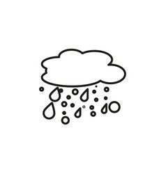 wet snow icon vector image