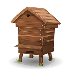 wood hive for bees vector image