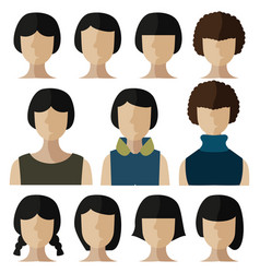 people flat icon vector image vector image