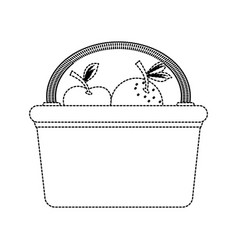 picnic basket isolated vector image