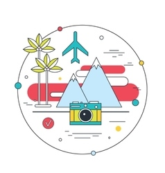 Travel to exotic places Explore the world Tourism vector image