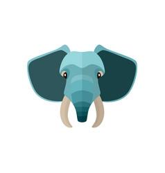 elephant head icon in flat design vector image
