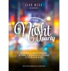 flyer template for night party Premium vector image