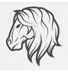 Horse symbol logo emblem vector image vector image